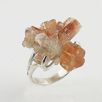 Argonite Star Cluster Sterling Silver Ring