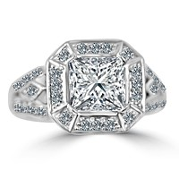 2.5CT Diamond Veneer Cubic Zirconia Marquise Antique Sterling Silver Ring. 635R12550