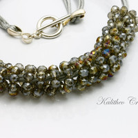 Fashion Statement. Golden Smoly Silver Toned Coiled Necklace. Womens Jewellery