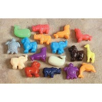 School Smart Animal Pony Plastic Bead Mix - 1/2 Pound - Assorted Colors