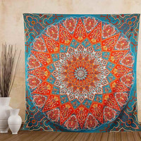 Beach Towel Indian Wall Hanging Tapestry Home Decorative Tapestries Boho Yoga Mat Bedspread Table Cloth 150X150cm
