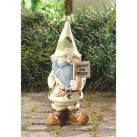 Support Our Troops Patriotic Garden Gnome Yard Decor