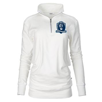 Official NCAA Old Dominion University Big Blue - PPODU05 Unisex 1/4 Zip Up Fleece Pullover