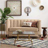 Camel Leanna Tufted Loveseat