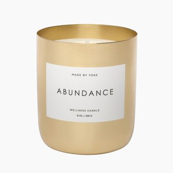 Soy Yoke Wellness Candle: Abundance - 8 oz