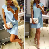 Summer New Arrival 2017 Women Dress Ukraine Fashion Female Casual Wear Beach Dress Vestidos Ladies Elegant Office Dress