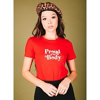 Proud Of My Body Tee (Red)