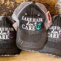 Lake Hair Trucker Hats