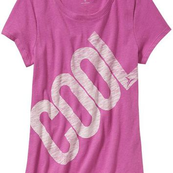 Old Navy Girls Graphic Tees Size XXL - Fuchsia leaders poly