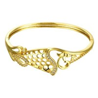MLOVES Women's Classical Delicate Retro Flower Cuff Bracelet
