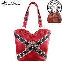 Montana West Rebel Flag Six Shooter Conceal Carry Purse
