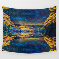 Concert at Red Rocks Painting Wall Tapestry by Emily Dwan