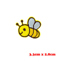Honey Bee patch Embroidered Patch Iron on patch Sew on patch Appliqué wholesale patch xs
