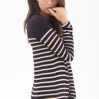 LOVE 21 Striped Knit Top