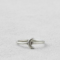 AEO SILVER MOON RING