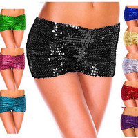 Casual Sequins Shorts