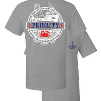 Southern Couture High Priority Seafood Boat Anchor Crab Unisex Bright T Shirt