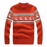 New Mens Ugly Christmas Sweater Multicolor Fashion Wool Cowl Neck Sweater For Men Sweaters Pull Homme 5 Colors BF7721