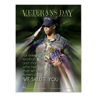 We Salute You, Veteran's Day 2006 Poster from Zazzle.com