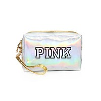 Fashion PINK Make Up Bag Waterproof Laser Cosmetic Bags Women Storage Case Pouches Beauty Box