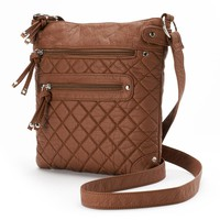 Candie's Quilted Washed Crossbody Bag