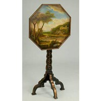 A. A. Importing 38701 Hand-Painted Octagonal Table
