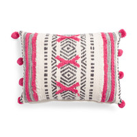 Made In India 14x20 Pom Pom Pillow - Made In India - T.J.Maxx