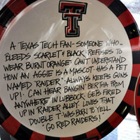 Round Serving Plate with Raider Words