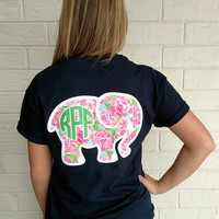 Summer Elephant Printed Women Casual  Short Sleeve T-shirt