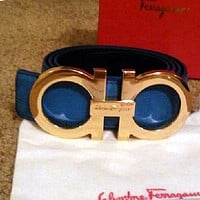 Ferragamo Fashion Contracted Smooth Buckle Belt Leather Belt F-A-GFPDPF
