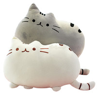 Cat Shape Throw Pillow Plush Toy Doll