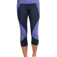 Colorblock Performance Capri