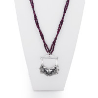 Steal Your Face Sterling Silver Garnet Necklace