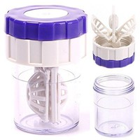 Latest New Manually Contact Lens Cleaner Washer Cleaning Lenses Case