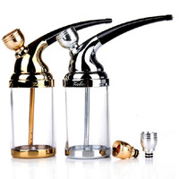 1 PCS Water Pipe Of Double Loop Filter Cigarette Holder Hookah Smoking Set Mini