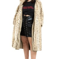 Vintage 80's Glam Queen Faux Fur Jacket - XL