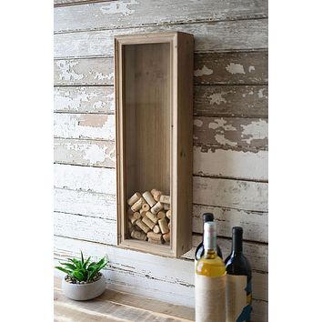 Wood & Glass Wine Cork Holder