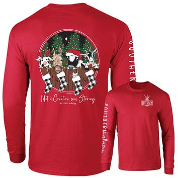 Southernology Creature was Stirring Holiday Comfort Colors Long Sleeve T-Shirt