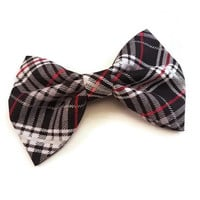 Black Plaid Bow • Christmas Bow • Winter Bow • Holiday Hair Bow • Stocking Stuffers • Christmas Gifts • Santa Gifts • Gifts under 5