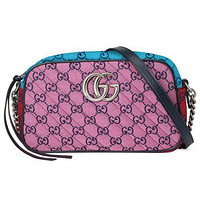 GUCCI GG New Canvas Embroidered Letters Ladies Cosmetic Bag Shoulder Bag Messenger Bag