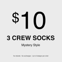 3 x Mystery Socks (No refunds - No exchanges - Up to 6 different designs)