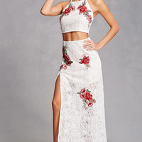 Lace Rose Top and Skirt Set