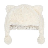 Mayoral Baby Girls' Ivory Faux Fur Hat
