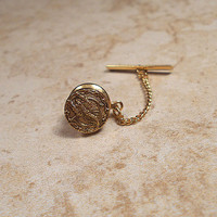 10 mm Round Scorpion S Vintage Tie Tack Lapel Pin Gold Tone Scorpio Zodiac Sign Mens Formal Jewelry Guys Gift