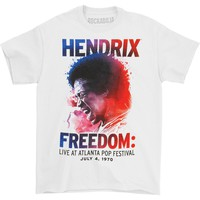 Jimi Hendrix Men's  Atlanta Pop Splatters T-shirt White