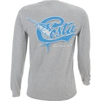 Academy - Costa Del Mar Adults' Retro Long Sleeve T-shirt