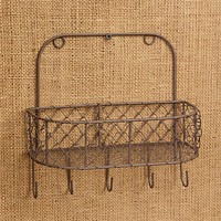 Chicken Wire Basket With Hooks