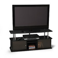 Convenience Concepts Designs2Go TV Stand with 3 Cabinets for Flat Panel TV's up to 50-Inch or 85-Pounds, Black