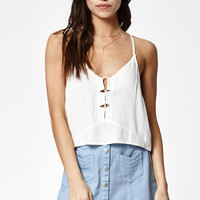 Kendall and Kylie Loop Front Strappy Cropped Tank Top at PacSun.com