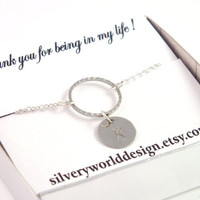 Infinity Monogram Necklace, Initial Necklace, Bridesmaids Gift, Mother Gift, Best Friend Gift, Unique Design, Letter Stamped